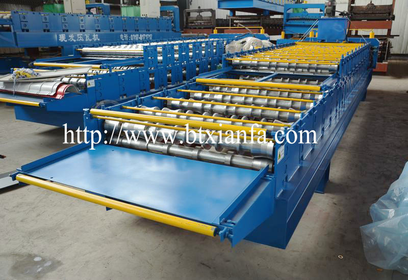 machine for corrugated aluminium sheet