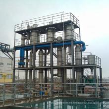 Evaporador de circulación forzada de recuperación de aguas residuales