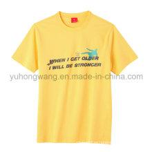 Moda camiseta de algodón de buena calidad impresa camiseta