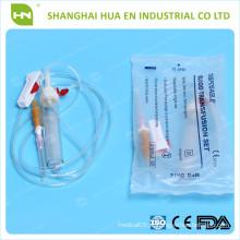 Conjunto personalizado de transfusão de sangue usado no hospital feito na China