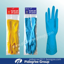 Colorful Flock Lined Latex Household Gloves Rubber Gloves