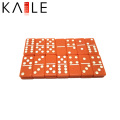 Custom Orange Acylic Domino Piece Factory