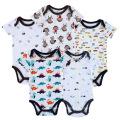 Neugeborenes Baby Bodysuit Kleinkinder Outfit gedruckt Tier Baby Strampler