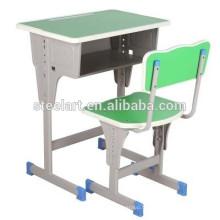 Usine directement vente en bois et en métal bureau bois chaise école