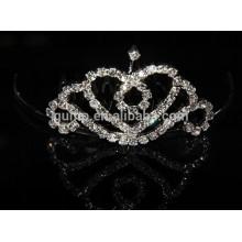 Fashion silver rhinestone mini tiara comb