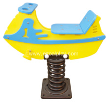 High Quality for Outdoor Playground Rider Boat Shape HDPE Spring Riders supply to Monaco Factory