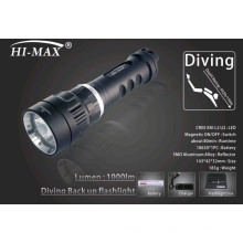 Hi-max diving samll u2led étroit faisceau 7degree angle 1000lm respiration lumière de plongée