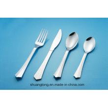 Argent Couché / Acier Inoxydable Revêtu / Transparent / Blanc Couleur PS, Matériel PP Coutellerie en plastique Vaisselle Coutellerie Cuillère Couteau Fourchette