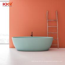 Colorful artificial stone resin solid surface bathroom freestanding bathtub KKR manufacturer