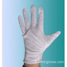 Gants d'inspection jetables en coton blanc