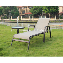 Poolside lounger chairs metal frame sun lounger beach chairs with coffee table