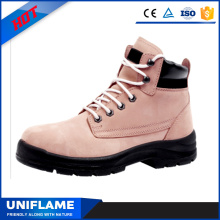 Women Pink Upper Safety Shoes in Office Ufb032