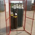 10x bouteille de gaz pleine grandeur soudée cage de stockage de sécurité
