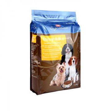 Quad Seal Bag För Pet Food Packaging