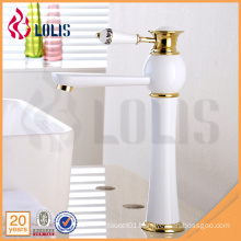 Quality sanitary ware tall white painting bathroom mixer basin faucet