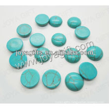 FA0032/green Turquoise round shape cabochon/ring surface/olive shape/ring accessories/15*5MM