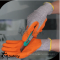SRSAFETY cheap price/latex coated mesh cutting work glove/hand gloves