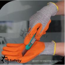 SRSAFETY billig Preis / Latex beschichtet Mesh Schneiden Arbeitshandschuh / Hand Handschuhe