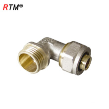 A 17 4 8 male tee press fitting brass male tee coupling for pex pipe push fit fittings