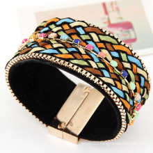 Handmade braided rope bohemian style magnetic bracelet