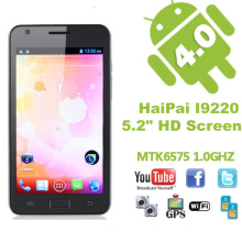 Haipai I9220 Smart Phone 5.2 Inch Multi-Touch Screen Android 4.0 MTK6575 Cortex A9 1.0GHz 3G GPS WiFi