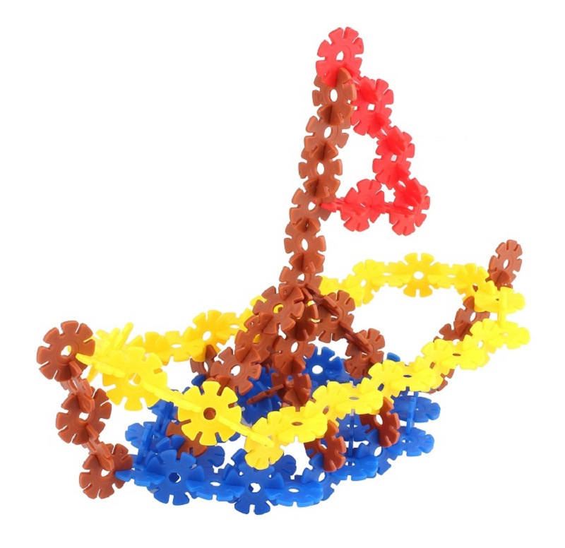 Creative Early Educational Plastic Snowflake Building Toys