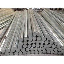 Q345 DIP caliente galvanizado 30FT poste de acero octogonal