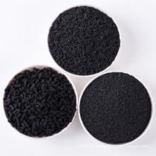 Pellets de koh impregnados carbón activado