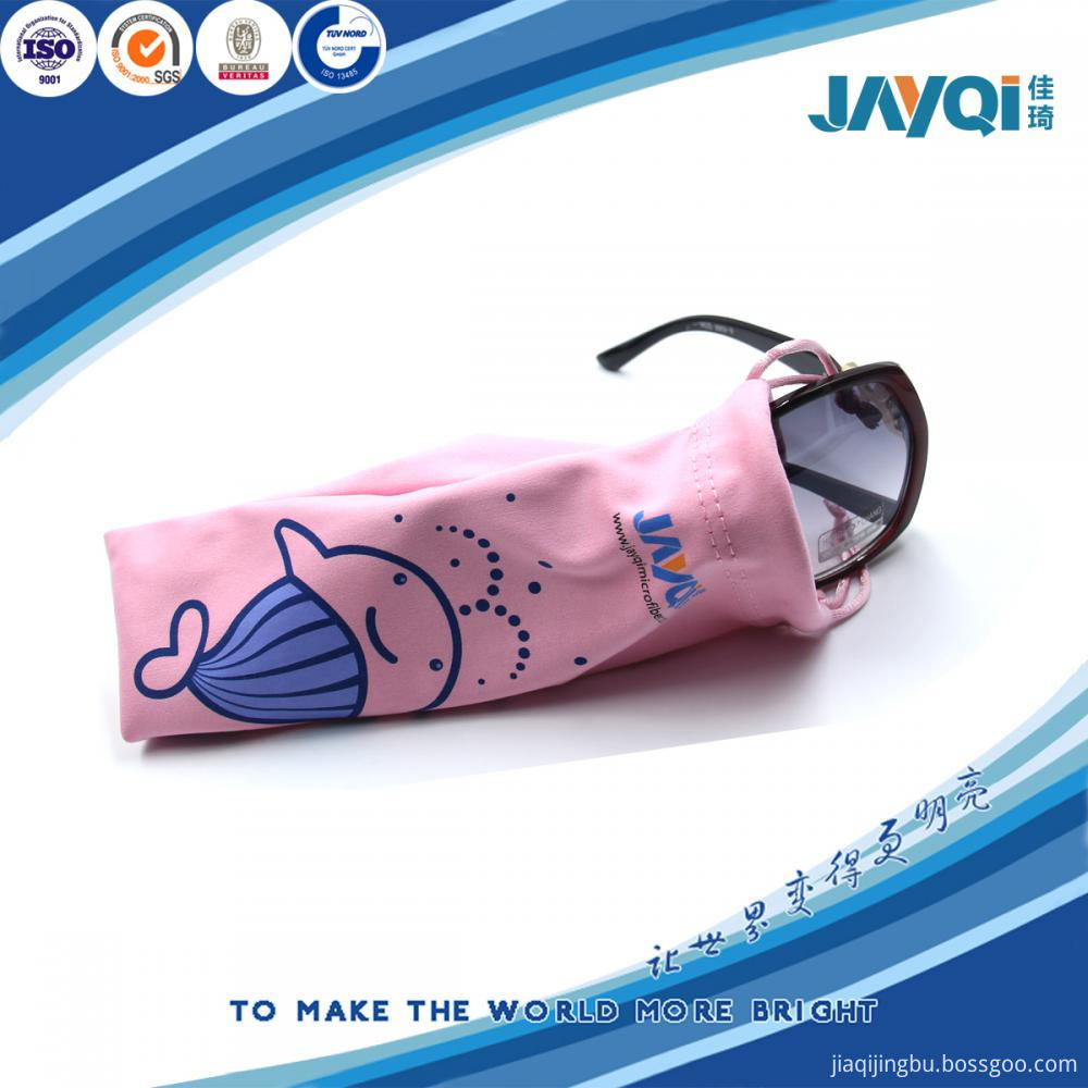 Factory Microfiber Eyeglasses Drawstring Fabric Pouch