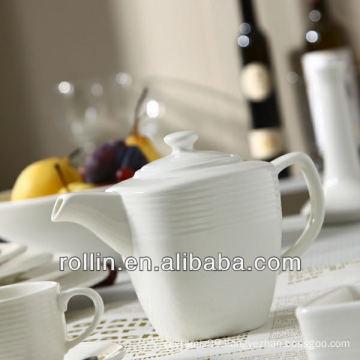 Stave Lines Style restaurant used tea pot, porcelain tea pot wholesale