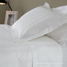 100% Baumwolle Satin Streifen Bettwäsche Leinen für Hotel / Home (WS-2016345)