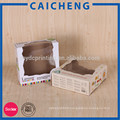 Customized lid and tray rigid paper baby shoe box