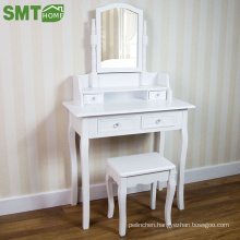 2018 designs of dressing table mirror with drawer