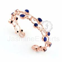 Bracelet à bracelet en argent massif en argent sterling et en argent sterling 925