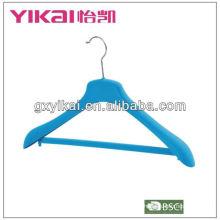 High quality flocking coat hanger