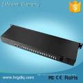Réseaux de communication fxo à fxs convertisseur PCM multiplexeur 16 pots (rj11) ligne téléphonique sur le convertisseur de fibre