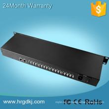 Preço de fábrica 16 potenciômetros portuários (rj11) linha de telefone sobre o conversor da fibra para o sistema de transmissão de telefone digital