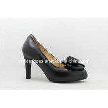 New Comfort High Heels Leather Bow Women Shoes