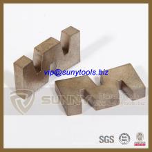 Segment de lame de coupe de diamant de forme de W pour la dalle de granit de coupe