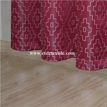 American Style New Designs Embroidery Curtain Fabric