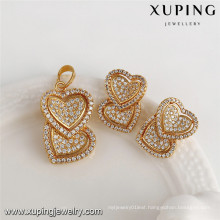 64089 xuping 18k newest zircon design dubai gold jewelry set