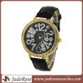 Fashion Alloy Case Leather Watch Whit Diamond