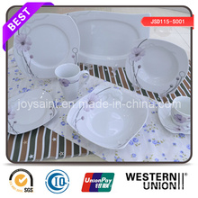 New Design Customized Colored Decal Dinner Set