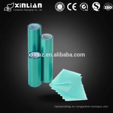 Película de plástico PE / OPP de alta calidad con diferentes colores