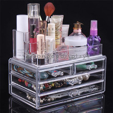 Affordable Beauty Product Display Acrylic Table Top 4-Drawer Storage Box Make Up Cosmetics Organizer