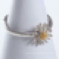 Women′s 925 Sterling Silver Chrysanthemum-Shaped Opening Ring