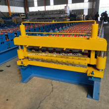 Automatic double layer roofing sheet making machine