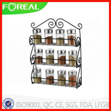 Black Powder Coating Metal Wire Spice Rack