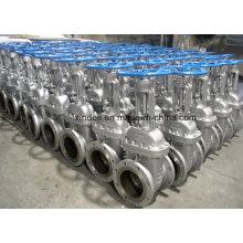 ANSI 300lb CF8m Corpo Flange End Válvula de porta de aço inoxidável
