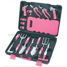 Ensemble d'outils de jardin 18PCS-Pink (SE2654)